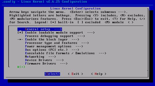 Fedora 9 make menuconfig