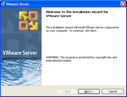 Welcome to the Installation Wizard for VMware Server