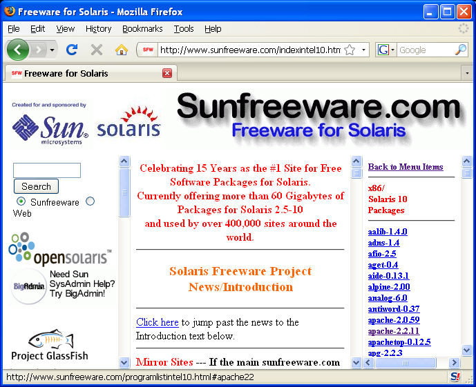 Sunfreeware - Select Package