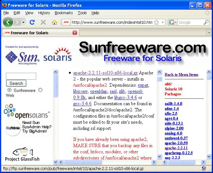Sunfreeware - Package Details