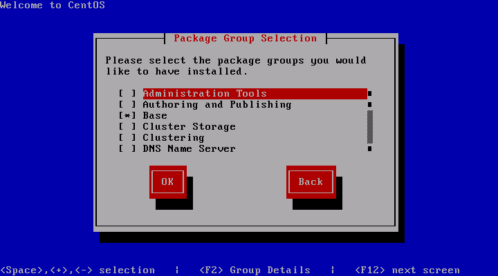 CentOS 5.3 Installation Package Group Selection