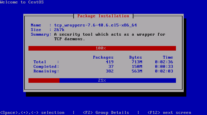 CentOS 5.3 Installation Package Installation