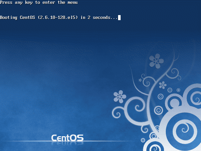 CentOS 5.3 Booting Screen