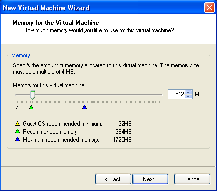 Memory for the Virtual Machine