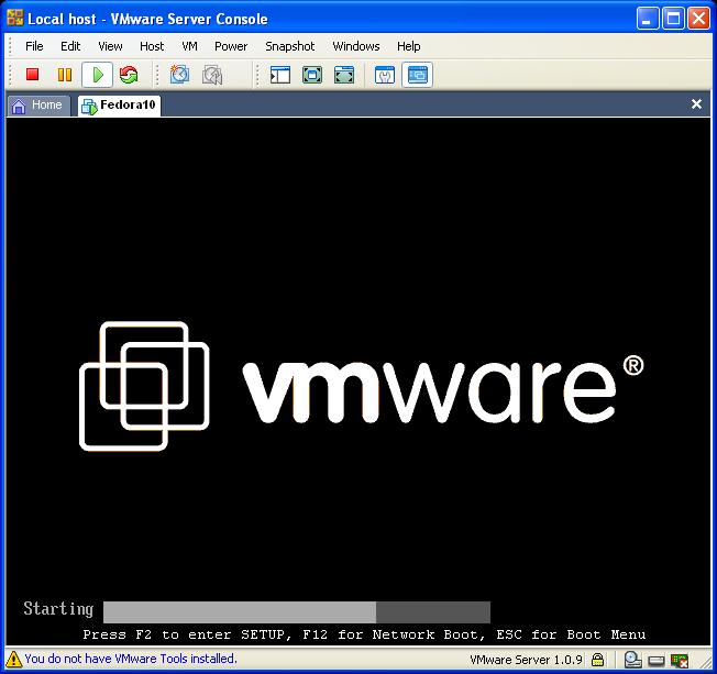 Booting Virtual Machine
