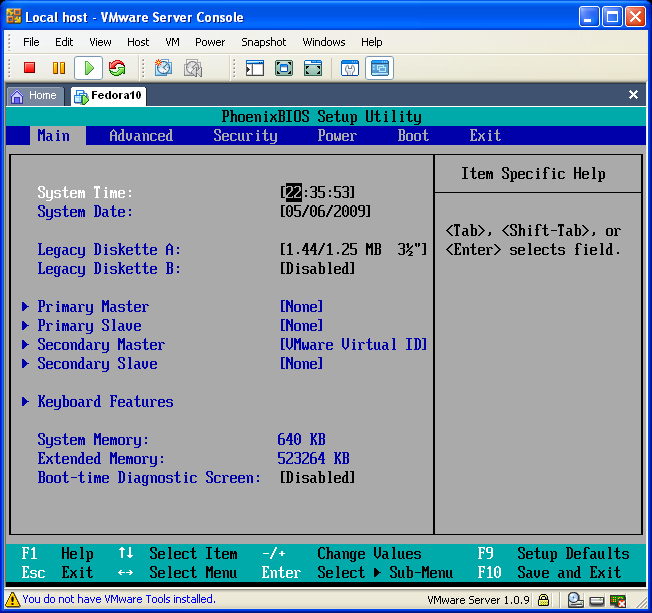 BIOS of Virtual Machine