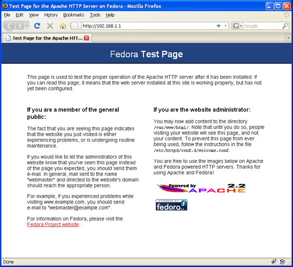 Fedora 11 - Test Page