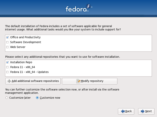 Fedora 11 - Customize Now