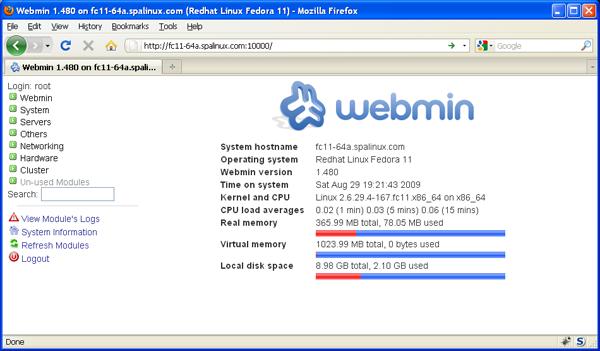 Webmin - System Information